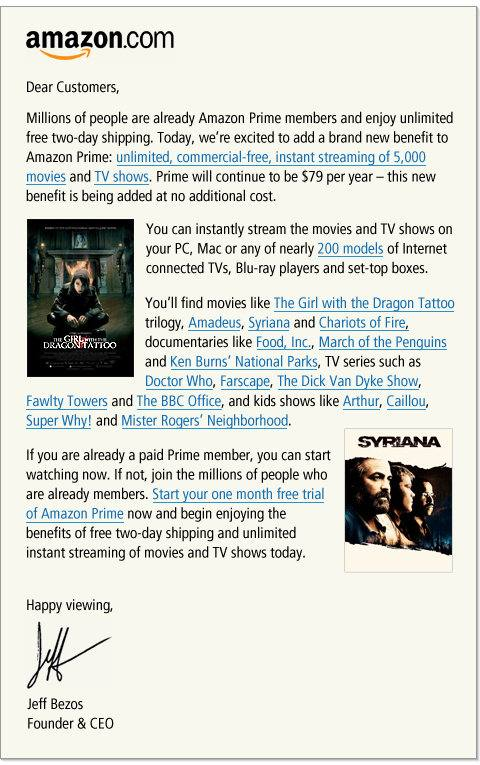 Amazon Prime Get Unlimited FREE Video Streaming